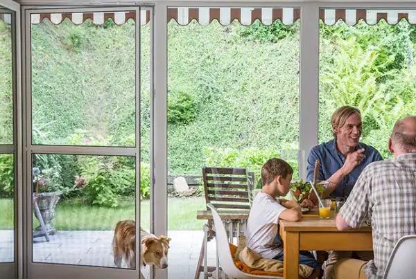 Neuner Pendeltür, Hund, Terasse, Garten